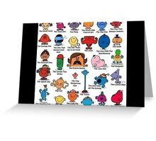 Mr men and little miss Greeting Card