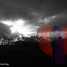 valentine card  selective colour by scotts03