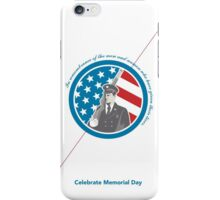 Memorial Day Greeting Card Soldier Military Serviceman Holding Rifle iPhone Case/Skin