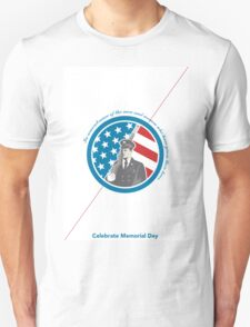 Memorial Day Greeting Card Soldier Military Serviceman Holding Rifle Unisex T-Shirt