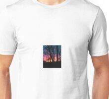 Rural sunset with trees Unisex T-Shirt