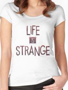 Life is strange edited logo Women's Fitted Scoop T-Shirt