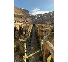 Hypogeum of the Colosseo Photographic Print