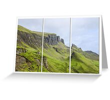 The Quiraing Triptych Greeting Card