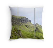 The Quiraing Triptych Throw Pillow