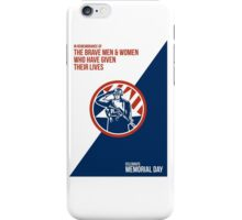 Memorial Day Greeting Card American Soldier Salute Holding Rifle iPhone Case/Skin