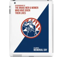 Memorial Day Greeting Card American Soldier Salute Holding Rifle iPad Case/Skin
