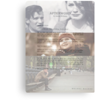 Afterword By Amelia Williams Canvas Print