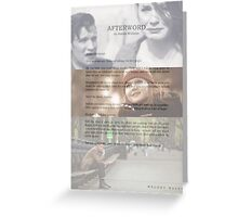 Afterword By Amelia Williams Greeting Card