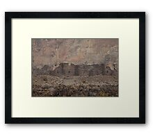Chaco Canyon Snowstorm Framed Print