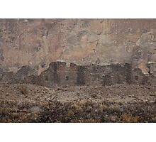 Chaco Canyon Snowstorm Photographic Print