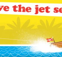 Live The Jet Set Life Sticker