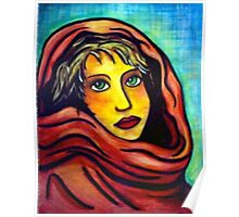Red Shawl Poster