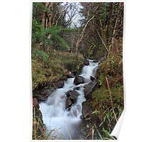 Mountain stream near Loch Fyne, Scotland, UK * Poster