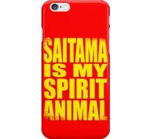 Saitama is my Spirit Animal - YELLOW iPhone Case/Skin