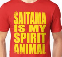 Saitama is my Spirit Animal - YELLOW Unisex T-Shirt