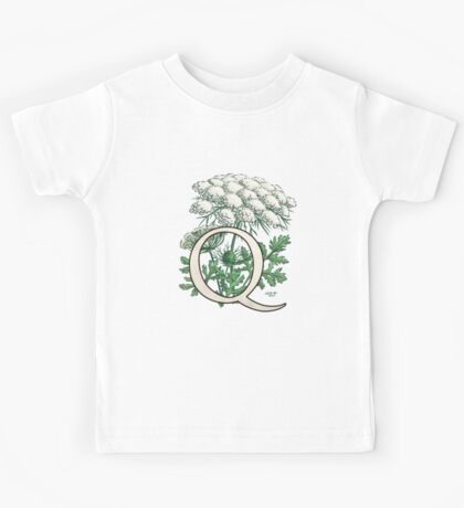 Q is for Queen Anne's Lace -- floating Kids Tee