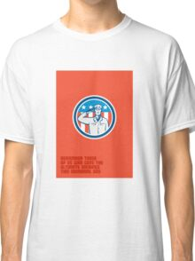 Memorial Day Greeting Card American Soldier Salute Circle Classic T-Shirt