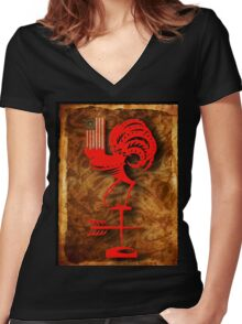 """The Village Genius' """"Plan"""" Women's Fitted V-Neck T-Shirt"""