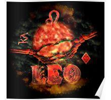 Leo gothic zodiac astrology by Valxart  Poster