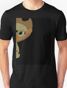 Applejack is curious. Unisex T-Shirt