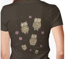 Owls Outing Womens Fitted T-Shirt