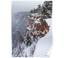 Red Canyon Cliffs Poster