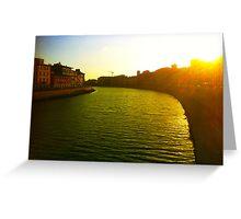 Pisa Sunset Greeting Card