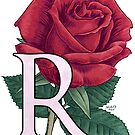 R is for Rose - floating by Stephanie Smith