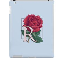 R is for Rose - floating iPad Case/Skin