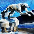 Cars - Lincoln Greyhound Hood Ornament by Susan Savad