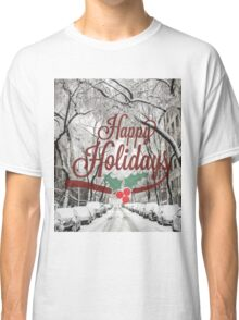 Happy Holidays Card Classic T-Shirt