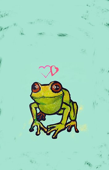Cute froggy thinking deep frog thoughts by CatchyLittleArt
