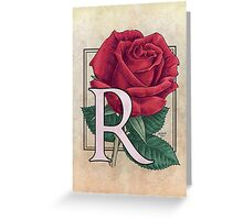 R is for Rose card Greeting Card