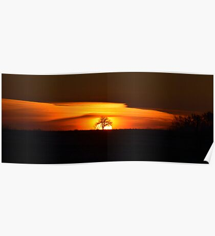 Layered Sunrise Poster