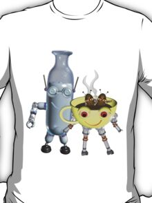 CoffeeBot and MilkBot by Valxart T-Shirt