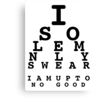Marauders' Eye Chart Canvas Print
