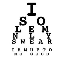 Marauders' Eye Chart Photographic Print