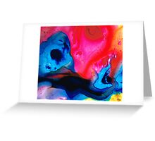 True Colors - Vibrant Pink And Blue Painting Art Greeting Card