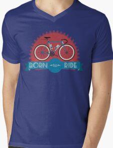 Born To Ride Mens V-Neck T-Shirt