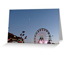 Moon and Ferris Wheel Greeting Card