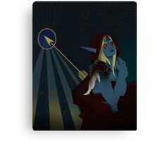 Lady Sylvanas Windrunner Tarot Card Canvas Print