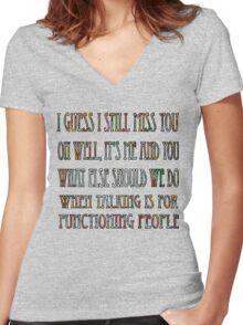 Dance Gavin Dance - Carl Barker  Women's Fitted V-Neck T-Shirt