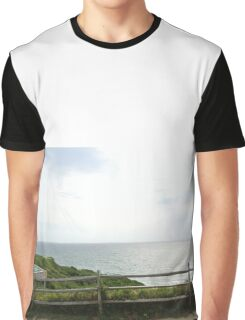 Fence and Ocean Graphic T-Shirt