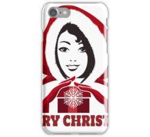 Santa Helper Girl with present iPhone Case/Skin