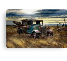 Working Retired Ford - Tone Work Canvas Print