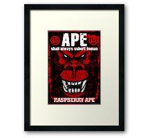 Raspberry Ape v2.0 Framed Print