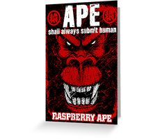 Raspberry Ape v2.0 Greeting Card