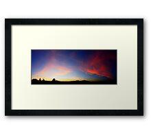 ©HCS Deep Cirrus Glow Framed Print