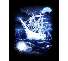 """""""High-Voltage Ghost Ship"""" Photographic Print"""